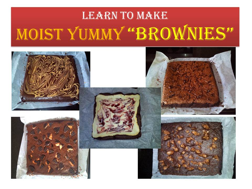 Learn to Make Moist Yummy BROWNIES