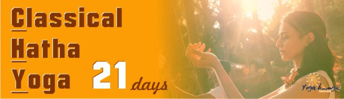 21 Days Classical Hatha Yoga, 1-21 September, RT Nagar, Hebbal