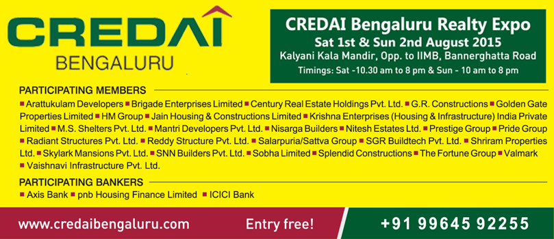 CREDAI Bengaluru Realty Expo Aug 2015