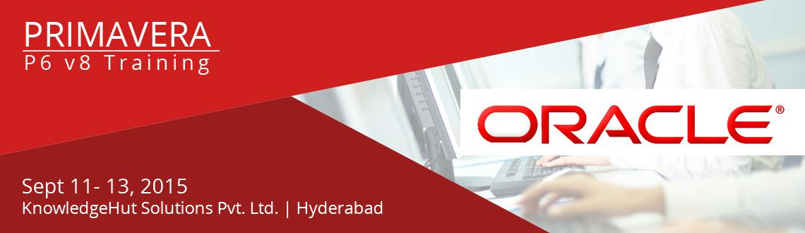 Book Online Tickets for Oracle Primavera P6 V8 Training in Hyder, Hyderabad. Oracle Primavera P6 V8 Training in Hyderabad  http://www.knowledgehut.com/project-management/oracle-primavera-p6-v8-training-hyderabad#cls  Course Overview: Oracle Primavera's P6 V8 Professional Project Management addresses the