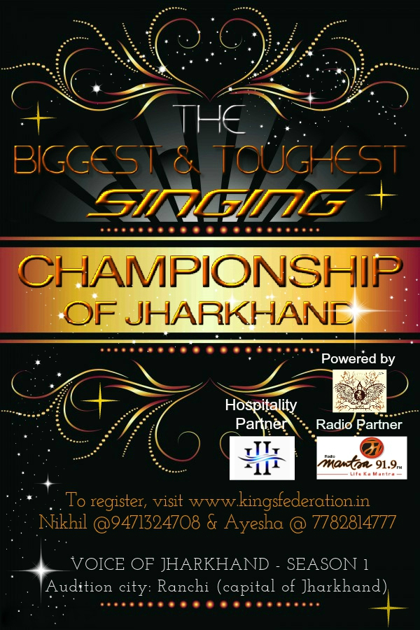 Book Online Tickets for Voice Of Jharkhand - Season 1, Ranchi. 