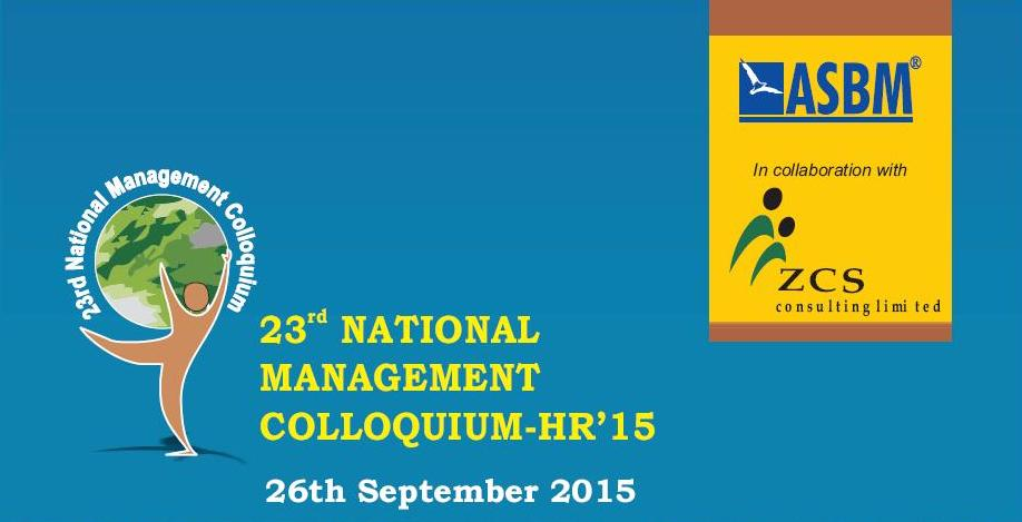 Book Online Tickets for 23rd National Management Colloquium - HR, Bhubaneswa. 23rd National Management Colloquium - HR'15