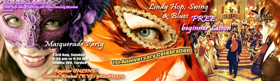 Masquerade Party (Lindy Hop, Swing and Blues) - 1st Anniversay Celebration with FREE beginner lesson