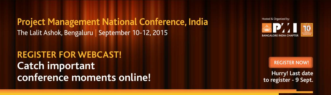 WEBCAST - Project Management National Conference, India - 2015