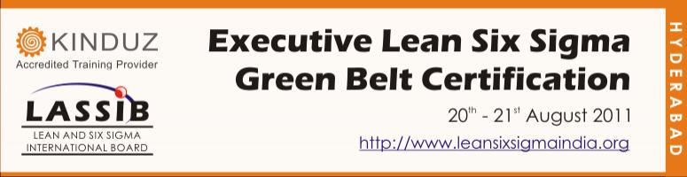 Book Online Tickets for Executive Lean Six Sigma Green Belt Cert, Hyderabad. Certification                                                               Module