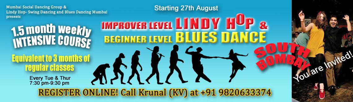 South Mumbai LindyHop Swing (Improver)  Blues (beginner) dance Intensive course