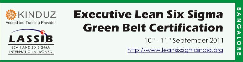 Book Online Tickets for Executive Lean Six Sigma Green Belt Cert, Bengaluru. Certification                                                               Module