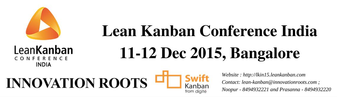 Book Online Tickets for Lean Kanban India Conference (11-12 Dec , Bengaluru. Lean Kanban India 2015 Conference This conference features the state of the art in Kanban, drawing from the real experiences of hundreds of organizations worldwide. Join us in beautiful Bangalore, India. You have more capacity than you think! Kanb