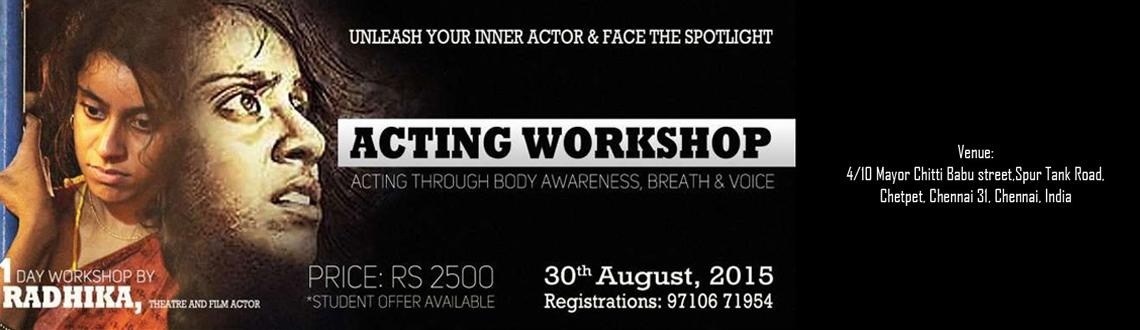 One Day Theatre Workshop @ Spur Tank Road, Chetpet, Chennai