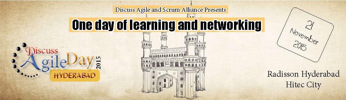 Discuss agile day is a day long conference in Hyderabad aimed to help Agile and scrum professionals grow and network.