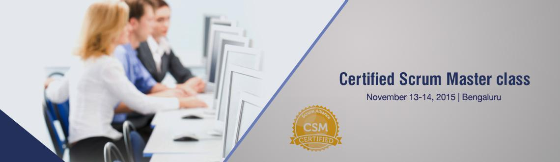 Certified Scrum Master; Bangalore Nov 13-14