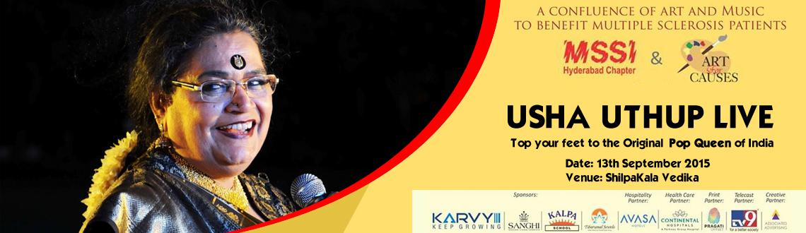 Book Online Tickets for Usha Uthup 2015, Hyderabad. USHA Uthup 2015