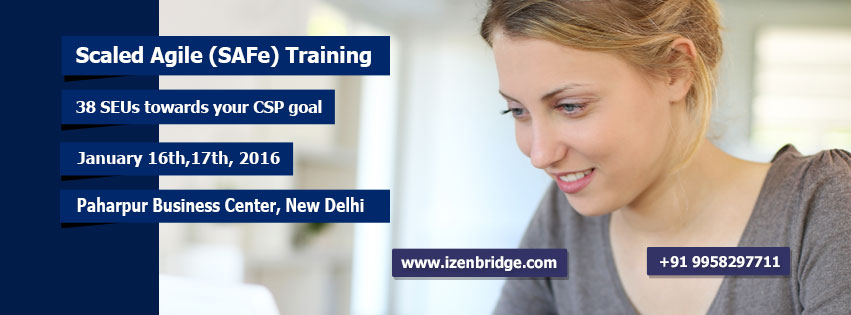 Scaled Agile training in Delhi with Saket bansal, get certified Safe Agilist with practical knowledge of Scaling Agile framework