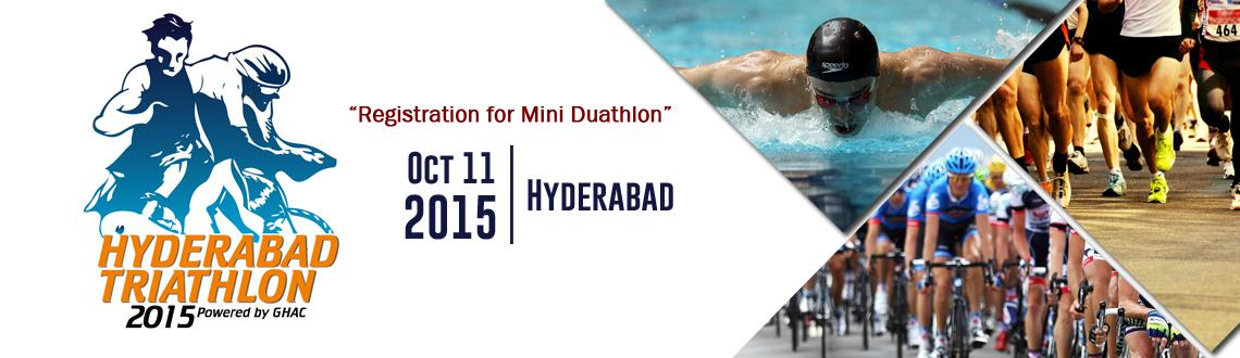 Hyderabad Triathlon 2015 - Registration for Mini Duathlon