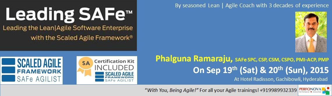 Book Online Tickets for Leading SAFe - SAFe Agilist (SA) Certifi, Hyderabad. Leading SAFe - SAFe Agilist (SA) Certification Workshop