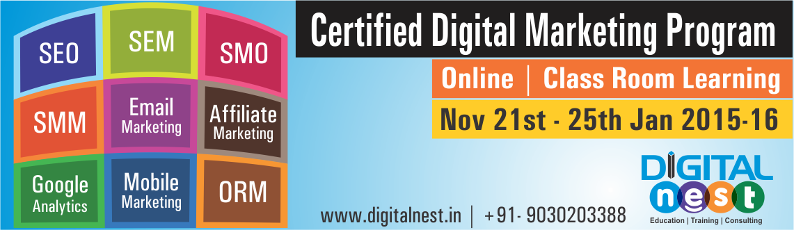 Book Online Tickets for Certified Advanced Digital Marketing Cou, Hyderabad.  