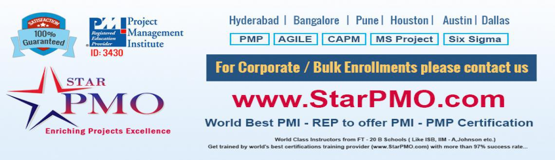Book Online Tickets for PMP Training in Pune Batches Starts From, Pune. DETAILS  PMP Certification Training Workshop with PM Games StarPMO (PMI-REP) hasannounce dates for its flagship PMP Certification Training Program at Pune based on PMBOK-5thEdition. Workshop Dates:10th, 11th & 17th, 18th October 2015 L