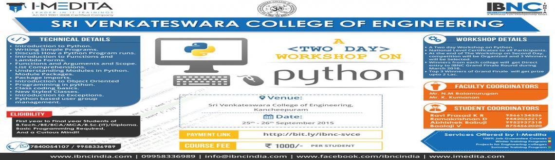 IBNC-2016 : 2 Days Python Workshop at Sri Venkateswara College of Engineering, Kancheepuram