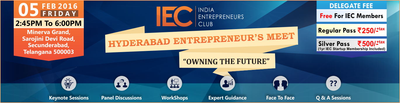 Book Online Tickets for Hyderabad Entrepreneurs Meet, Hyderabad. After a successful 1st Year we are back once again here to share knowledge, inviting Aspiring, startups, and mid level Entrepreneurs to attend.Learn, Network and Collaborate.