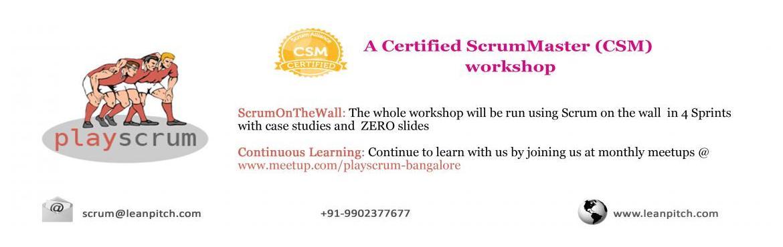 Lets PlayScrum - Chennai : CSM Workshop + Certification by Leanpitch : April 2-3