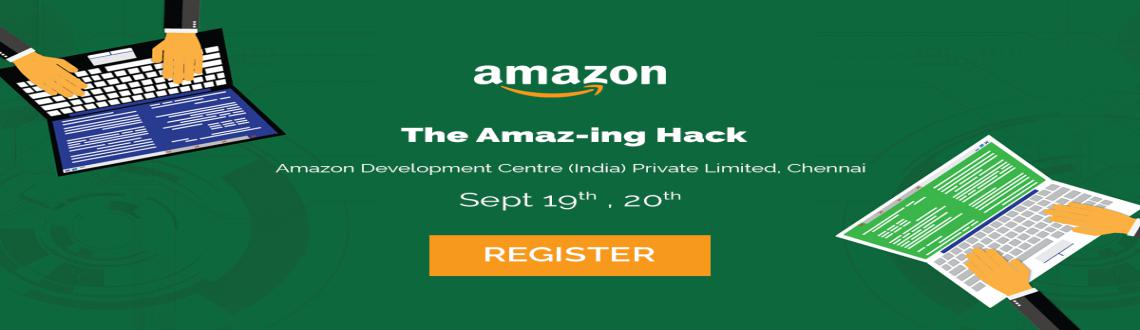 Book Online Tickets for The Amaz-ing Hack Amazon Hackathon, Chennai. The Amaz-ing hack is organized by Amazon Kindle Digital Content Platform (DCP) Team. Inviting all innovative hackersto build platforms that will drive next-generation digital businesses. Register now to receive an invite.