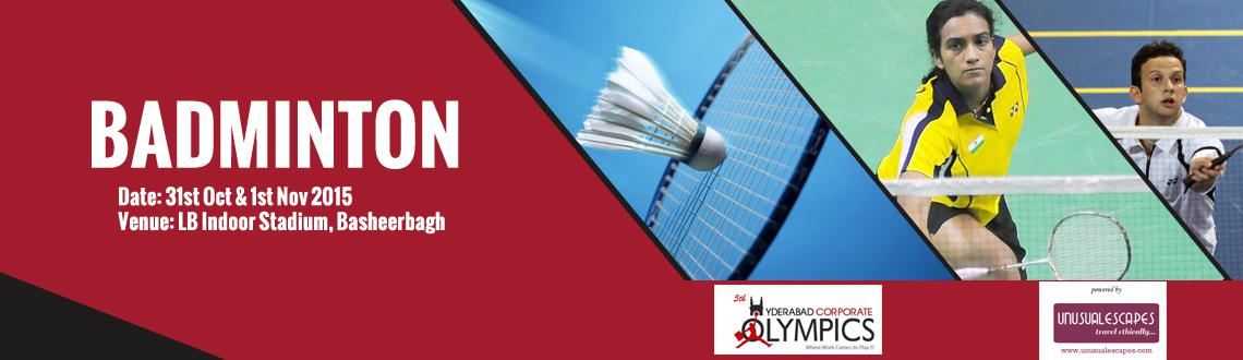5th Hyderabad Corporate Olympics (Badminton)
