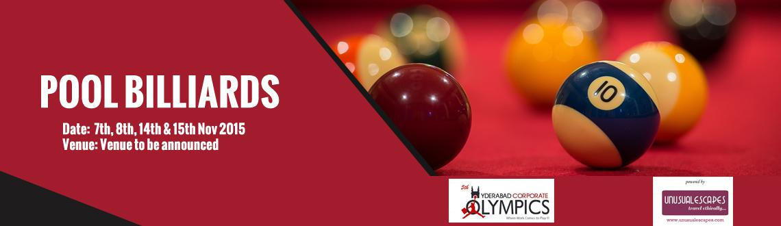 5th Hyderabad Corporate Olympics (8 Ball Pool)