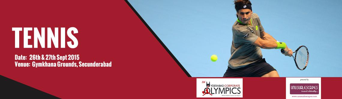 Book Online Tickets for 5th Hyderabad Corporate Olympics (Tennis, Hyderabad. Events, Rules and Regulations for HCOlympics (TENNIS):