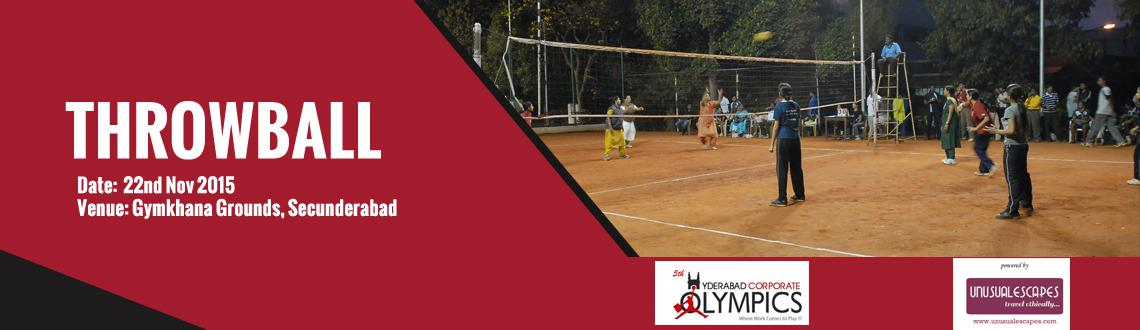 5th Hyderabad Corporate Olympics (Throwball for Women)