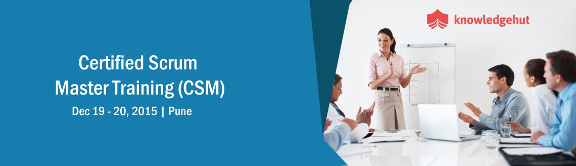 Book Online Tickets for Certified Scrum Master Training (CSM) in, Pune. Certified Scrum Master Training (CSM®) in Pune http://www.knowledgehut.com/agile-management/csm-certification-training-pune  Course Overview: A Certified ScrumMaster® is well equipped to use Scrum, an agile methodology to any projec
