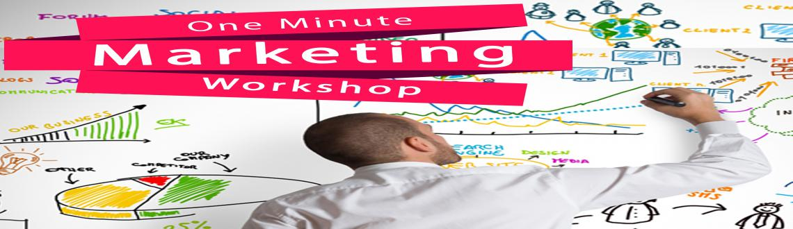 Book Online Tickets for One Minute Marketing - Workshop, Chennai. About Program  A one day comprehensive SMART (SALES - MARKETING ACHIEVEMENT REASSURANCE TRAINING) workshop designed with blend of stories and games related to marketing. The program is delivered by experts and experienced professionals from d