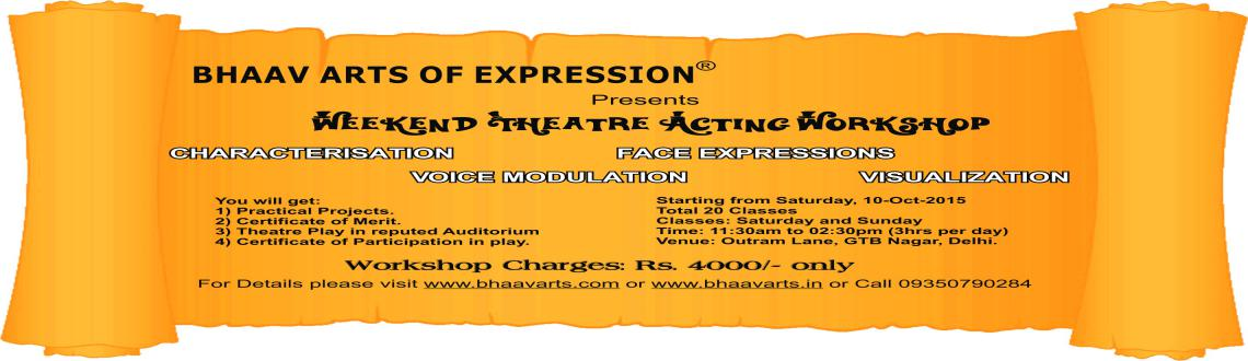 Weekend Theatre Acting Workshop, Winter 2015