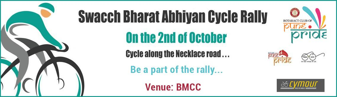 Book Online Tickets for Swacch Bharat Abhiyan Cycle Rally, Pune. Swacch Bharat AbhiyanCycle Rally ogranized by Rotract Club of Pune Pride on 2nd October 2015. 