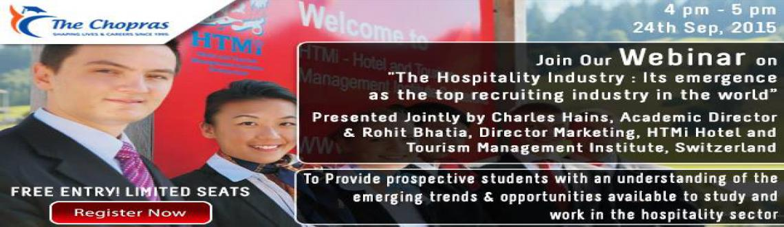 Attend Interactive Webinar on Hospitality Industry  Register Today
