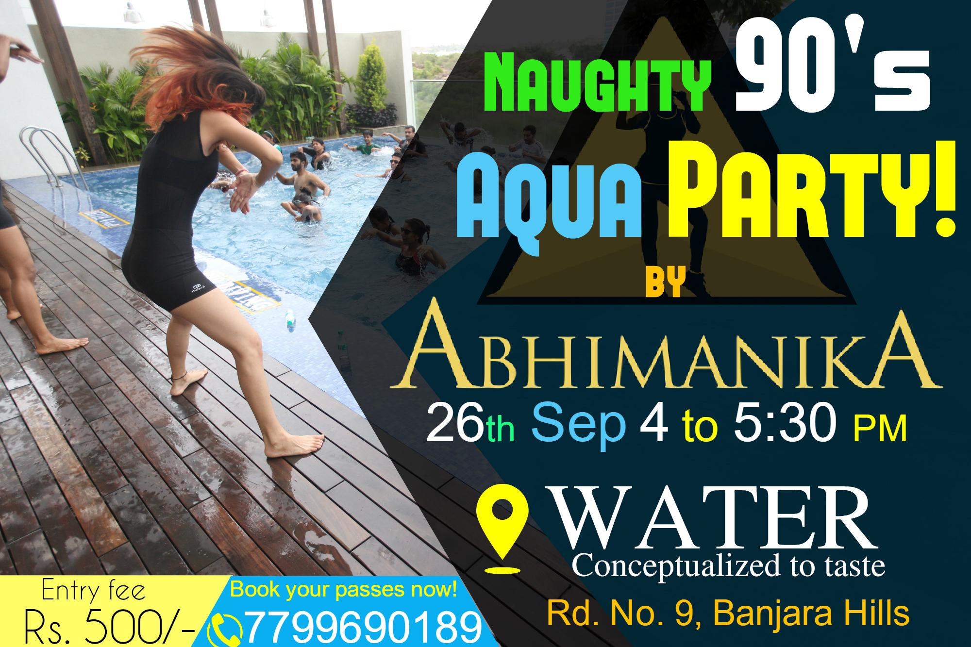 Naughty 90s Aqua Dance Party With Abhimanika