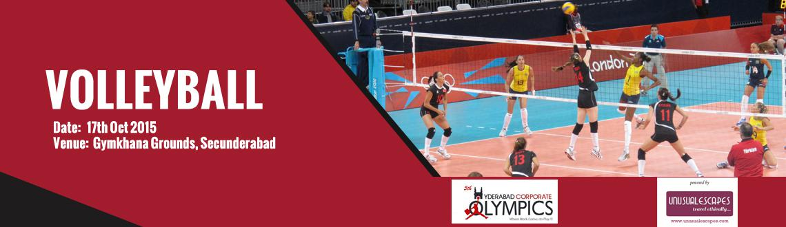 Book Online Tickets for 5th Hyderabad Corporate Olympics (Volley, Hyderabad.  