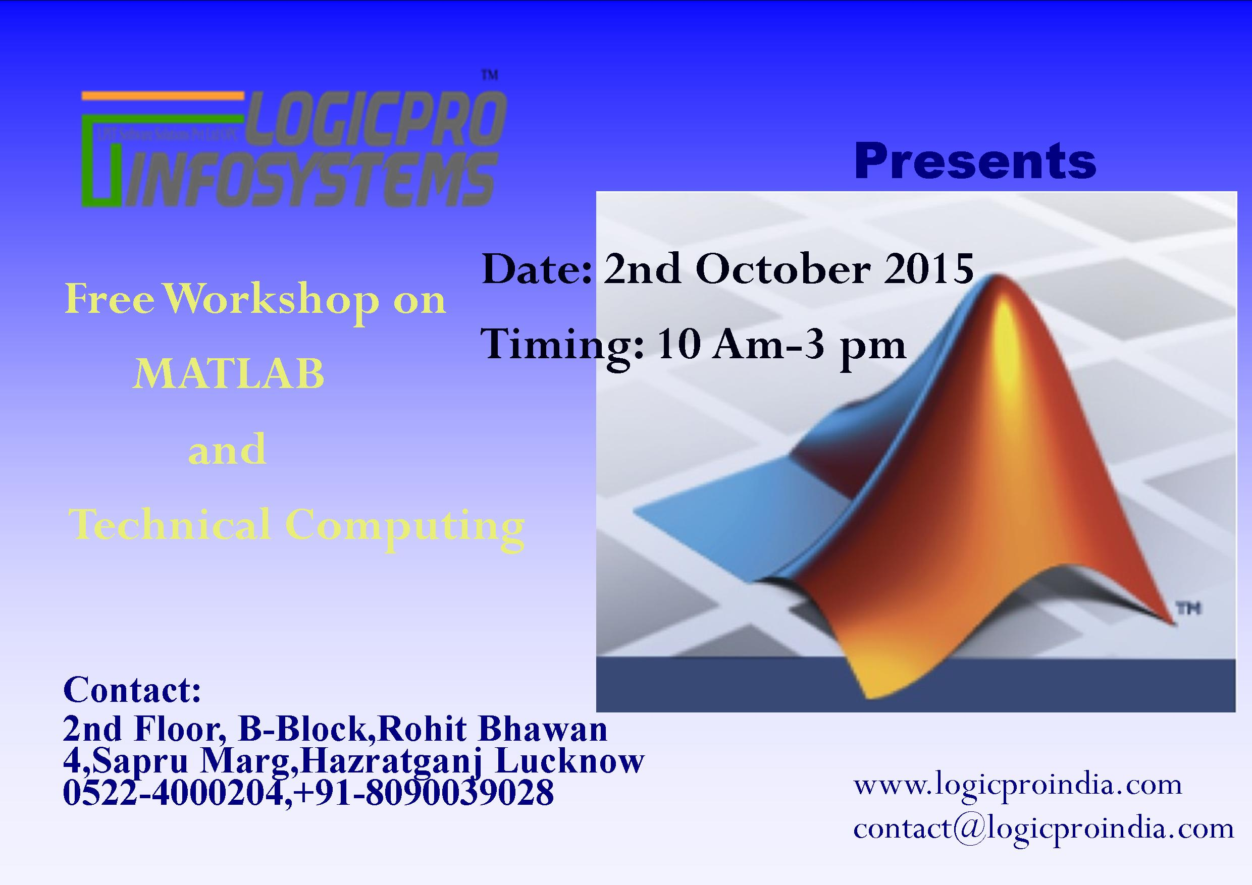 Free workshop on MATLAB and technical Computing