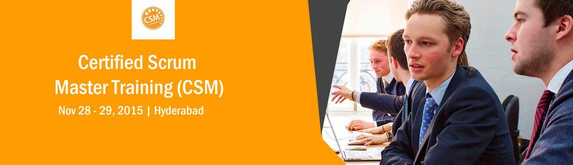 CSM, Certified ScrumMaster, Hyderabad Nov 28-29