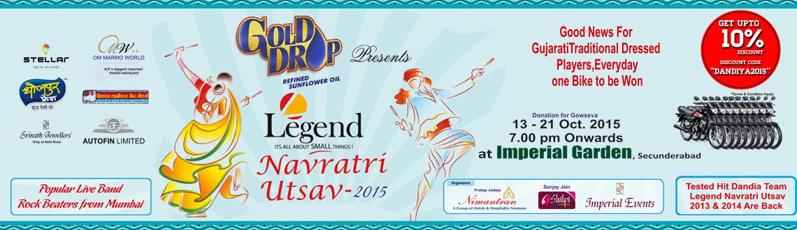 Legend Navratri Utsav 2015 at Imperial Gardens