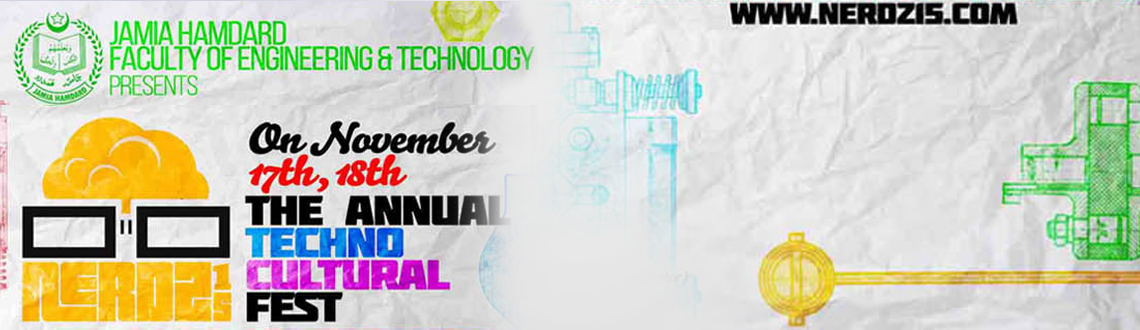 Book Online Tickets for Nerdz15, NewDelhi. The Department of Computer Science, Jamia Hamdard, organizing the most awaited Annual IT fest - NERDZ \\\'15. This is the moment, the time whilst the Department is stormed with activities, the rest of the varsity eagerly awaits the thrilling extravag