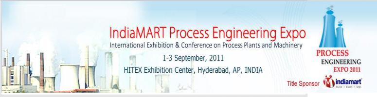 Book Online Tickets for IndiaMART Process Engineering Expo 2011, Hyderabad. IndiaMART Process Engineering Expo 2011 is the first of its kind in India and is being organized jointly by M/s Hyderabad International Trade Expositions Ltd. (HITEX) and M/s Synergy Exposures & Events India Pvt Ltd. This exhibition is scheduled