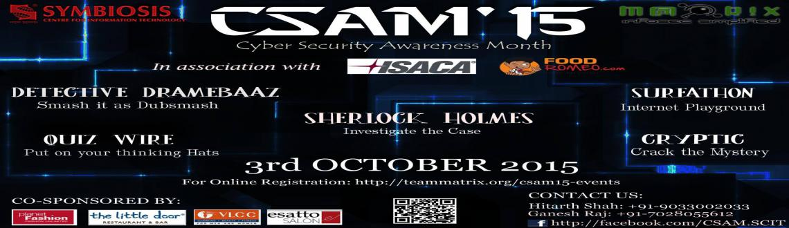 Book Online Tickets for CSAM 15, Pune. 