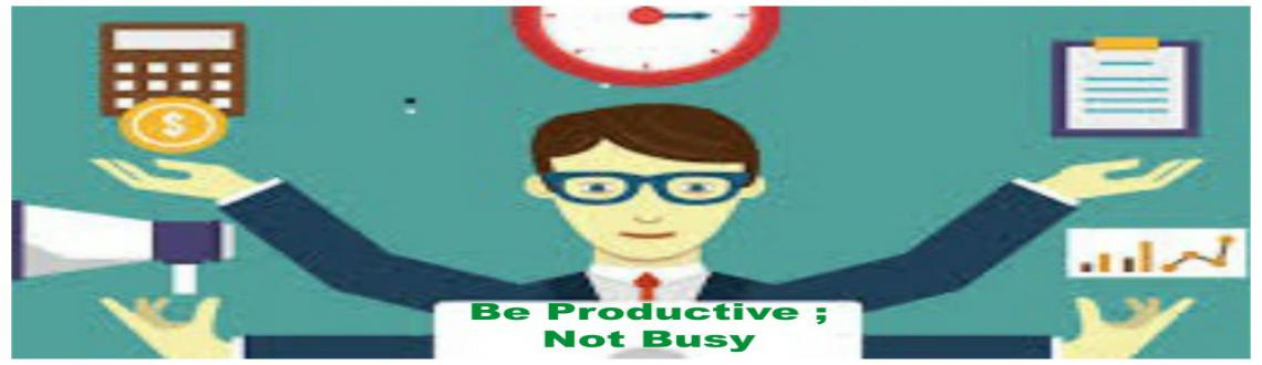 Be Productive - Not Busy