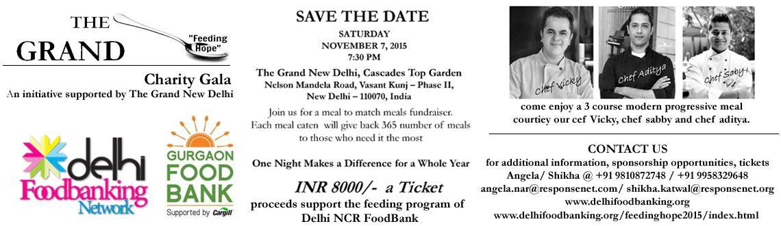 Book Online Tickets for The Grand Feeding Hope Charity Gala, NewDelhi. \\\