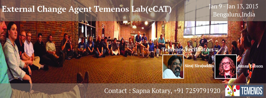 Book Online Tickets for EXTERNAL CHANGE AGENT TEMENOS LAB (eCAT), Bengaluru. When:  Jan 9, 2016 to Jan 13,2016Where: BENGALURU,INDIAPresenter: Siraj Sirajuddin & Susan Gibson
