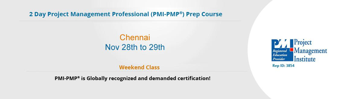 Book Online Tickets for PMP Exam Prep Course in Chennai, Chennai. Boost up your career by attending our 4 day Weekends classroom onProject Management Professional (PMP®)prep course inChennai: 28th & 29th November-2015. PMP®Training Course:If you are an experienced Project