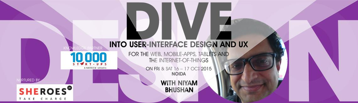 Two-day workshop on user-interface design and user-experience. For mobile-apps, tablets, website-designs, and Internet-of-things (IoT). NOIDA, U.P.