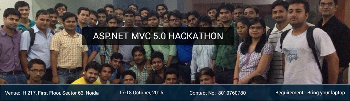 Book Online Tickets for ASP.NET MVC 5.0 Hackathon, Noida. Day 1 Day 1 - Lecture 1: 60 minutes  What is MVC? Getting Started with MVC 5.0. Understanding Models, Views and Controllers. Create MVC Application (CRUD with EF).  Day 1 - Lab 1: 50 minutes Day 1 - First Break 10 minutes Day 1 - Lecture 2: