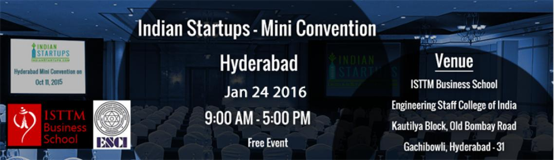 Indian Startups - Mini Convention - Hyderabad-Jan2016