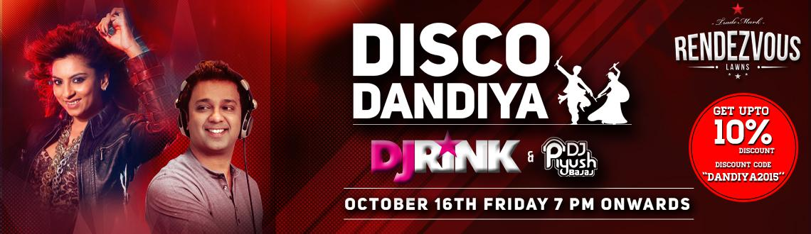 Book Online Tickets for Disco Dandiya feat DJ Rink and Piyush Ba, Hyderabad. Disco Dandiya feat DJ Rink &Piyush Bajaj.  As Navratri approaches, the city of joy shines in its colourful image. The festivities bear ample testimony of desi music by DJ RINK &Piyush Bajaj at Rendezvous. It is that time of the year
